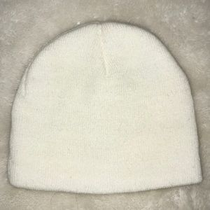White Ribbed / Knitted Winter Beanie